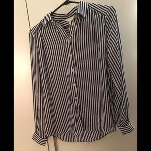 3/70 - Brand New - striped top, button down
